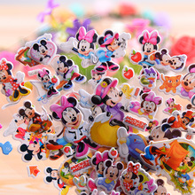 NEW 12 sheets/lot 3D Puffy Bubble Stickers Cartoon  Mickey Mouse DIY Children Boy Girl Toys wall stickers decoration