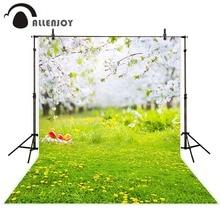 Allenjoy fundo Fotografia Natural fresco gramado jardim princesa menino vinil backdrops tecido