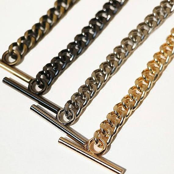 high Quality Purse Chain, Metal Shoulder Handbag Strap, Replacement Handle Chains, Metal Crossbody Bag Chain Strap T Clasps