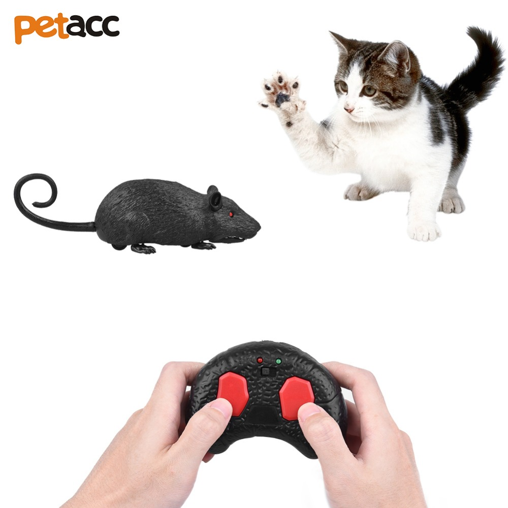 UARTER 49ft Remote Distance Cat Toys Remote Control Simulation Plush Mouse RC Electronic Rat Mouse Mice Toy For Pet Cat