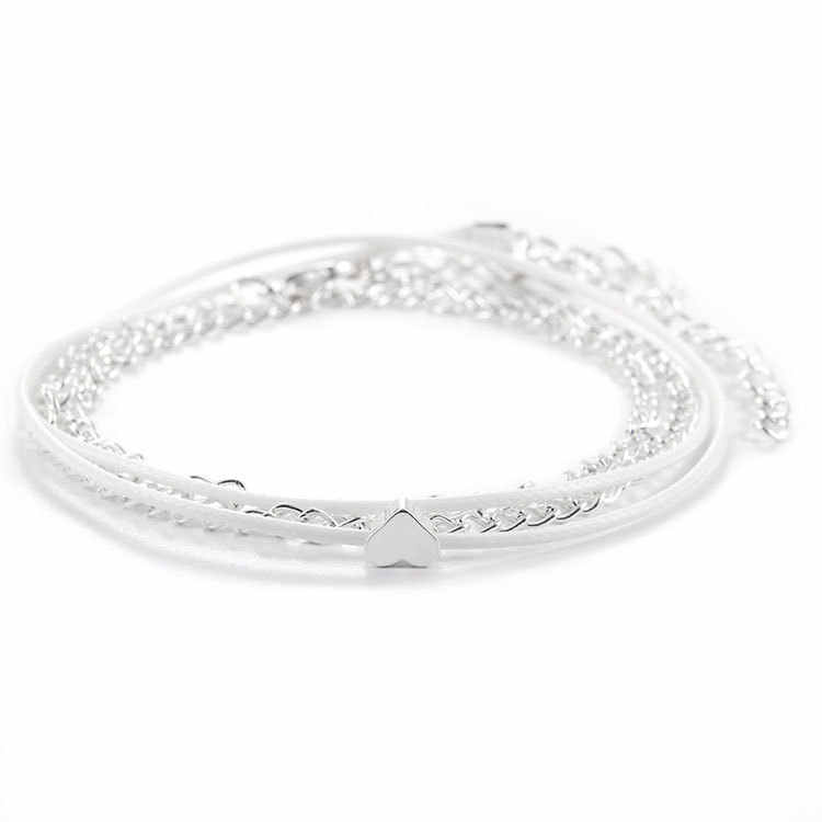 Anklet Beach Heart Multi-layer Charms Ankle Bracelet Bohemian Heart-shaped Halhal Jewellery Anklets For Women Indian Leg Jewelry