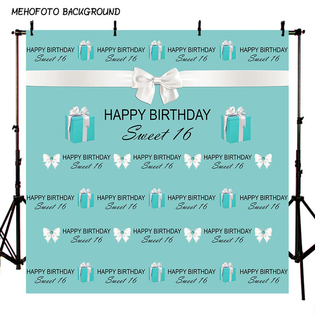 Birthday Party Photography Backdrop Girl Or Boy 16 Years Old Decoration For Photo Professional