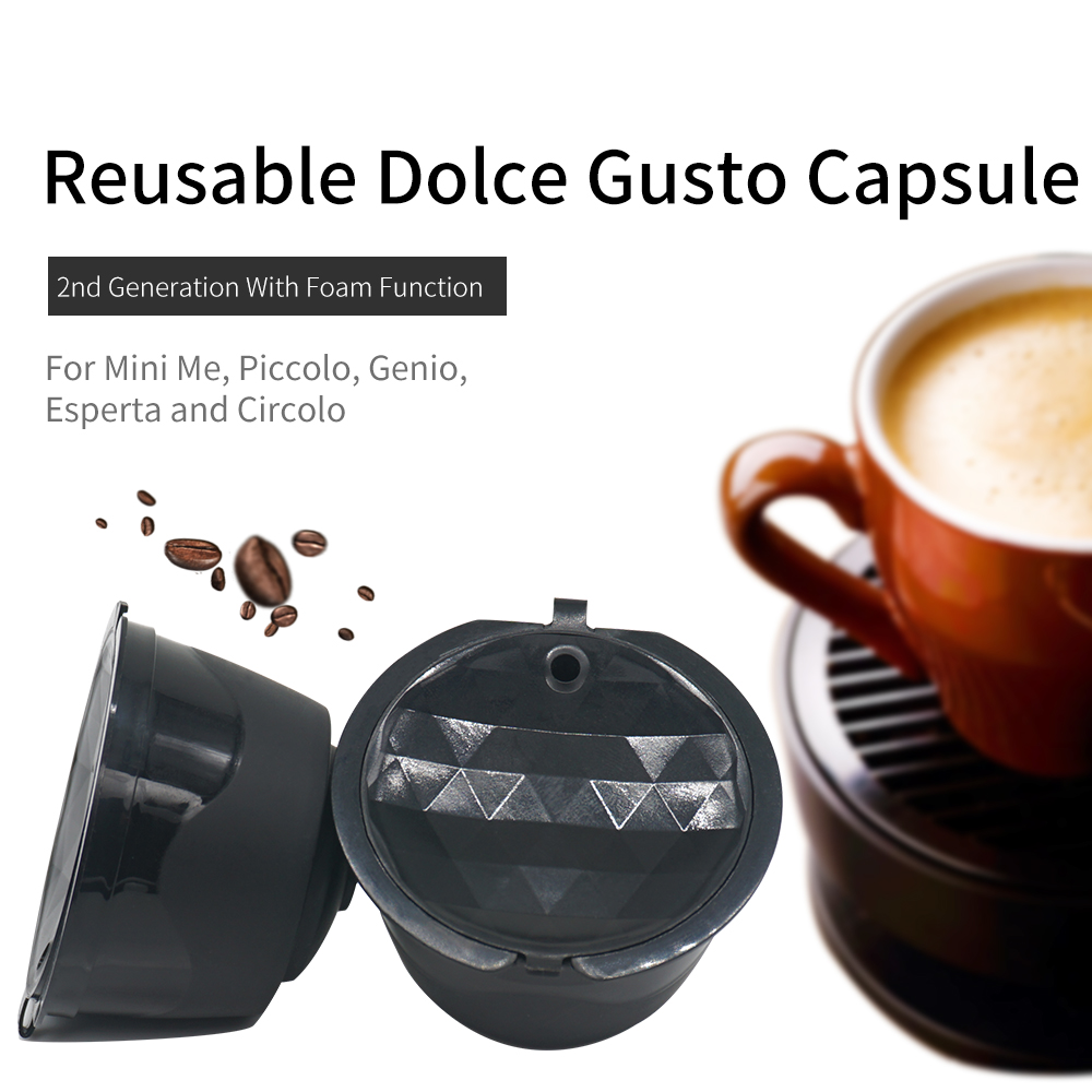 3 pz/lotto Riutilizzabile Dolce Gusto Capsule di Caffè Capsule Riutilizzabili Compatibili Ricarica con Nescafè Genio, Piccolo, Esperta