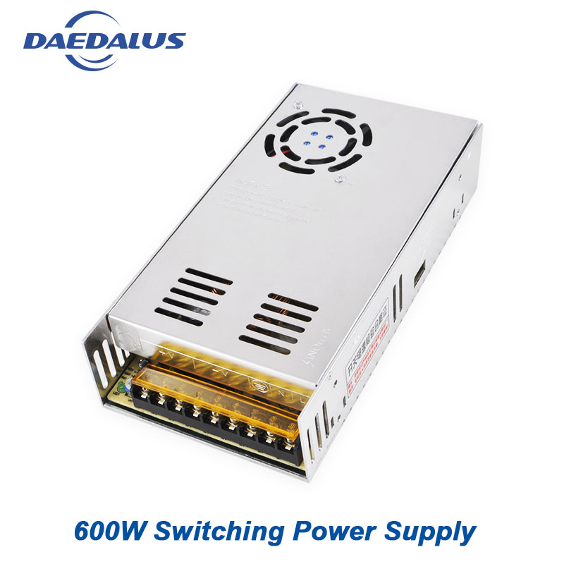AC110/220V Input Voltage Switching Power Supply 12A DC48V Output Adjustable Power Governer For 400W/500W/600W Spindle MotorAC110/220V Input Voltage Switching Power Supply 12A DC48V Output Adjustable Power Governer For 400W/500W/600W Spindle Motor