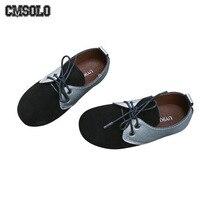 CMSOLO Çocuklar rahat ayakkabılar Deri Retro Erkek Kız Moda Ayakkabı Yeşil Kahverengi Siyah Okul Çocukları rahat ayakkabılar Popüler Kalite