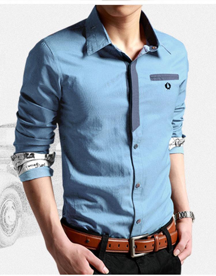 Korean Clothes Men Shirt Long Sleeve Streetwear Beach Summer Shirt Casual Slim Fit High Quality Hawaiian Mens Dress Male Shirts 14
