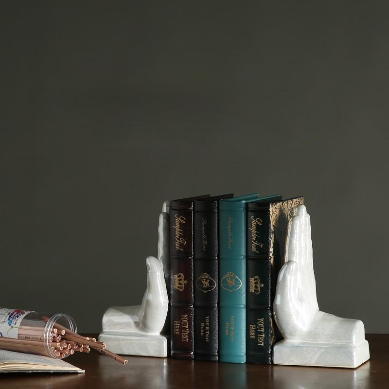 Le livre de paume par livre créatif moderne par décoration étude bureau ornements en céramique artisanat main forme silicone moule