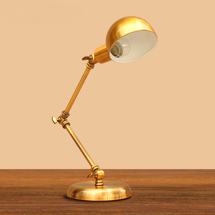 Table Lamp Suppliers: A1 Creative American fashion retro rocker arm table lamp bronze bedroom  bedside study hotel direct manufacturers,Lighting