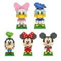 Figuras de acción de dibujos animados cabeza grande mickey pato goofy dasiy loz diamond bloques de construcción modelo 5 estilo lindo juguetes para niños