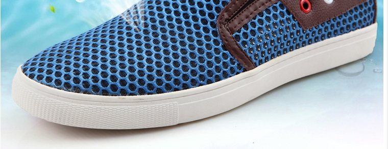 Más Hombres Estilo Americano Tamaño grey Oro 49 Europeo Zapatos Slip Suaves Mocasines Gris Y 7 Gold Verano ons Respirables Malla Air Del qrOqSwvAa
