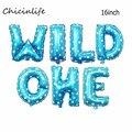 16-дюймовый воздушный шар Chicinlife из фольги, украшение для дня рождения на 1-й день рождения