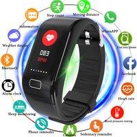 men waterproof LIGE Men Women Sport Smart Bracelet Bluetooth Clock Heart Rate Blood Pressure oxygen Sleep Monitor Pedometer Watch waterproof (1)