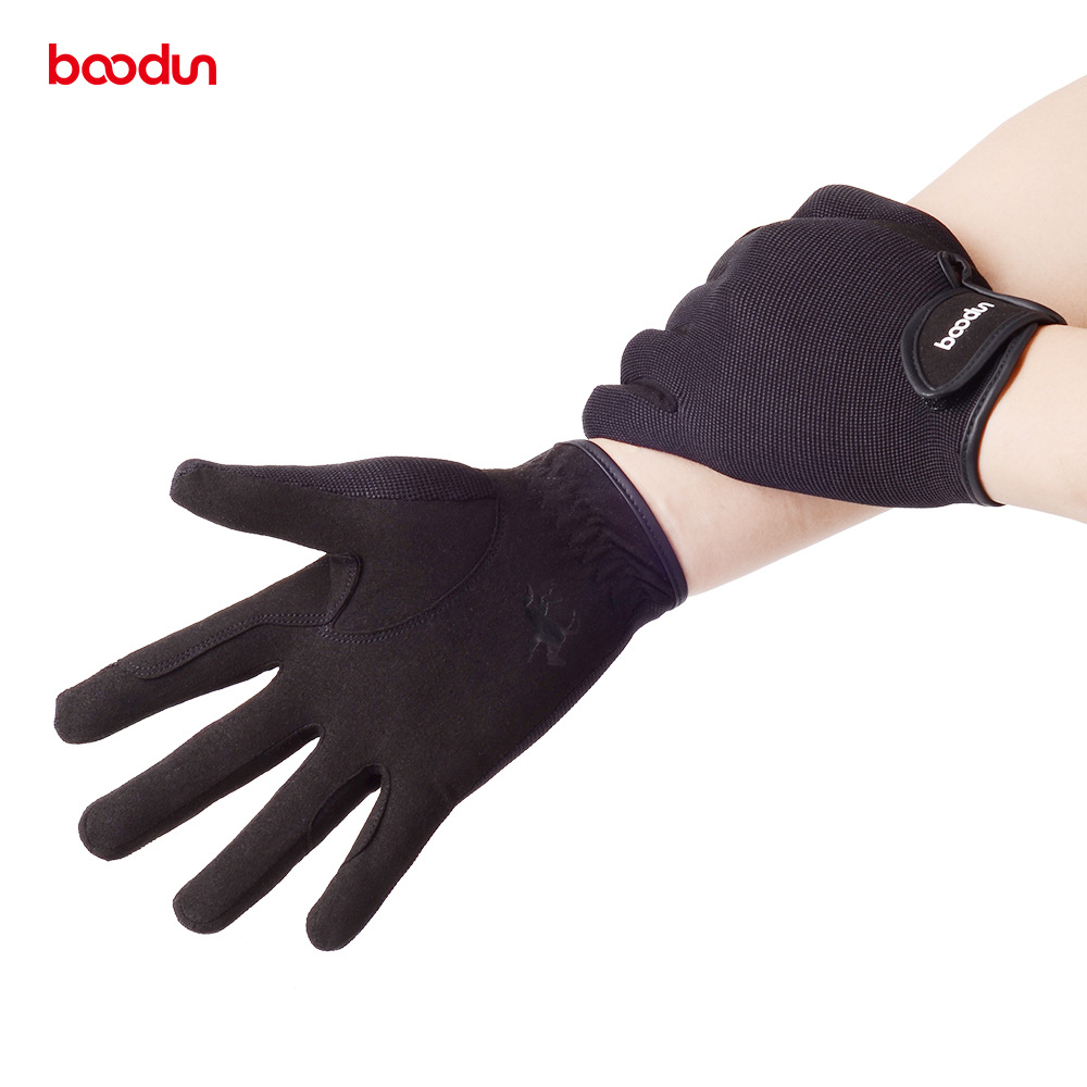 Image 2 - BOODUN Professional Horse Riding Gloves for Men Women Wear resistant Antiskid Equestrian Gloves Horse Racing Gloves Equipment-in Riding Gloves from Sports & Entertainment