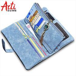 ARTISOME cuir portefeuille femme étui pour iphone 5 S 5 SE 6 6 S 7 téléphone sac étui portefeuille femmes sac à main porte-carte passeport housse Coque