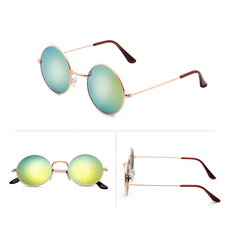 a31ebf6853aa ... Classic Vintage Mirror Coating Circle Round Sunglasses Women Men Retro  John Lennon Sun Glasses Small Alloy ...