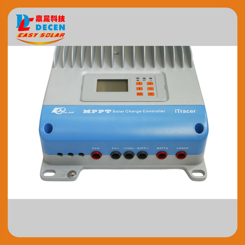 100% TURE 45A MPPT Solar Charge Controller RS232 RS485 With Modbus Protocol CAN Bus 12V 24V 36V 48V Auto Work, LCD Display 60a 12v 24v 48v mppt solar charge controller with lcd display and rs232 interface to communicate with computer