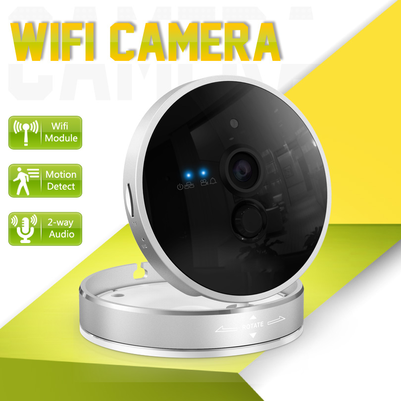 Wifi Camera IP 1280*720P HD P2P Onvif Two Way Voice Infrared 10m Night Vision 128G Micro SD Card Alarm Network IP Camera Wifi HD wifi ipc 720p 1280 720p household camera onvif with allbrand camera free shipping