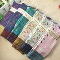 2 pares de la nueva manera de las mujeres casual otoño invierno cálido algodón de arranque calcetines sueltos línea gruesa linda flor de la venta caliente tamaño libre (ztw114)
