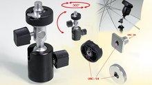 Swivel Flash Holder with Umbrella Bracket for Studio