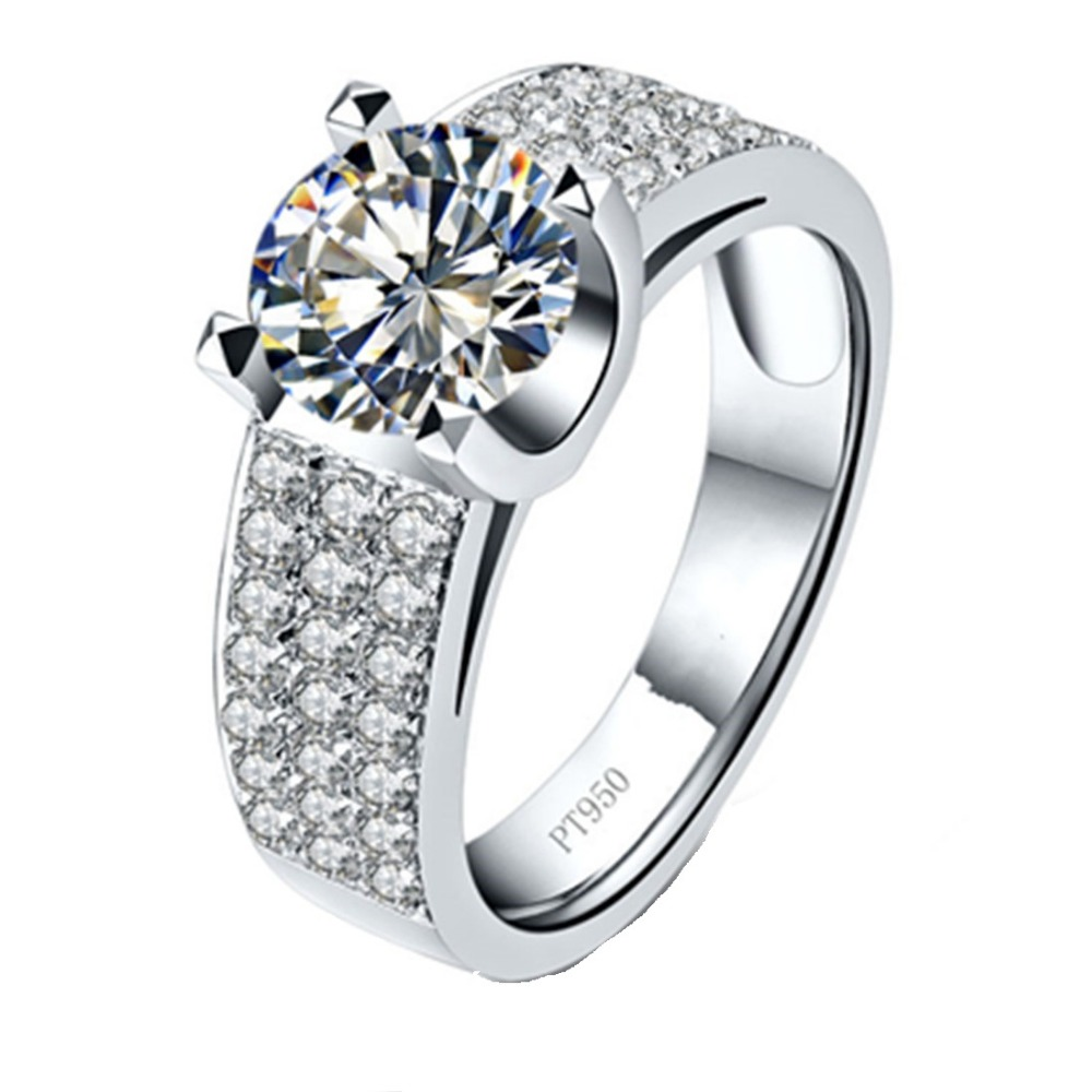 Aliexpress Com Buy 2 Carat Simulate Diamond Ring For Men