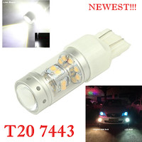 2x High Power 28SMD 5W Chips140W 1000LM For Toyota HIACE 2013 DRL Replacement 7443 W21W Projector