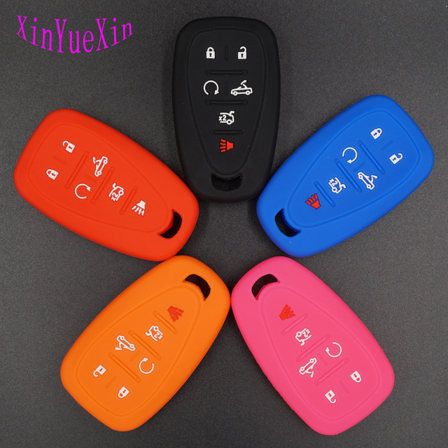 xinyuexin silicone car key cover fob case for chevrolet chevy camaroxinyuexin silicone car key cover fob case for chevrolet chevy camaro keyless entry 6 buttons smart remote key case car stying