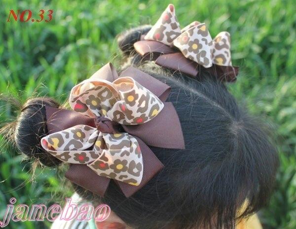 500 шт. 4.5 ''мода новейший большой слоистых волосы луки популярные девушка Bow заколки