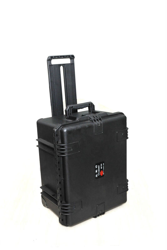 M2750 Customized logo low price hard plastic trolley toolbox with wheels and foam цена