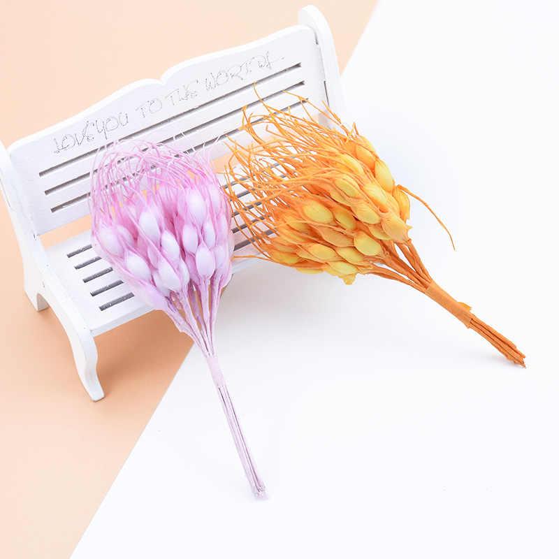 10 pcs Artificiale spighe di Grano piante finte per vasi regali fai da te contenitore di caramella nuovo Anno di natale decorazioni per la casa di nozze pompon