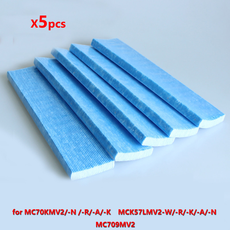 5pcs Air Purifier Filter For DAIKIN KAC017A4 KAC017A4E MC70KMV2 Air Purifier Filters Replacement Accessory