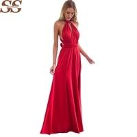 20 Color Summer Sexy Women Boho Maxi Dress Red Bandage Long Dress Sexy Multiway Bridesmaids Convertible
