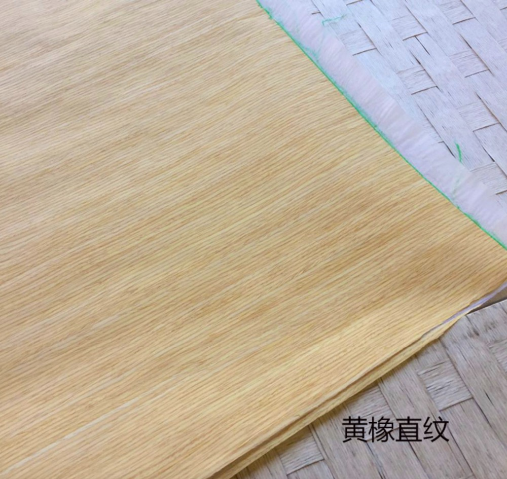 Купить с кэшбэком 2Pieces/Lot L:2.5Meter Width:55cm   Thickness:0.25mm  Technology Straight grain Yellow Oak Bark Wood Veneer