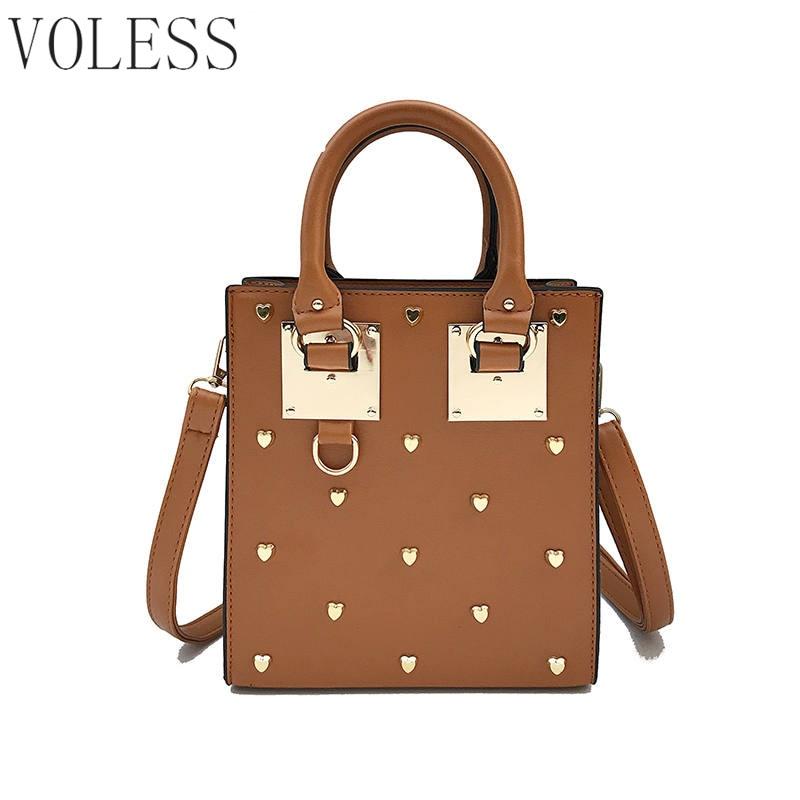 Fashion Box Women Rivets Casual Tote Bags Luxury Handbags Women Bags Designer Square Women Bag Famous Brand Crossbody Bags