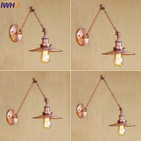 IWHD Wall Lamp Industial Lighting Retro Long Swing Arm Lampen Light For Home Bedroom Bare restaurant Lamparas De Techo