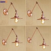 Iwhd 벽 램프 industial 조명 레트로 긴 스윙 암 lampen 빛 홈 침실 맨 손으로 레스토랑 lamparas 드 techo|lights for home|wall lampswing arm -