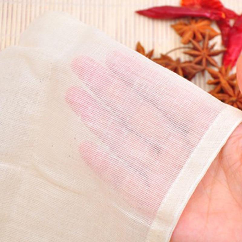 10xCotton Muslin Drawstring Straining Tea Cooking Separate Spice Filter Bag