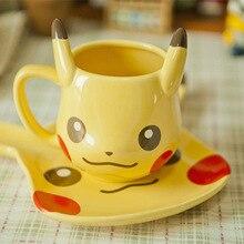 Anime Spiel Pokemon Taschen-monster Pikachu Kaffee Kreative Becher Keramik 250 ml Milch Porzellan Tasse Weihnachten Geburtstag Nettes Geschenk Heißer verkauf