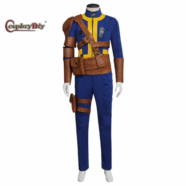 Cosplaydiy New Game Fallout 4 Male Sole Survivor Nate Cosplay Costume Adult Men's Halloween Jumpsuit Outfit Custom Made J5