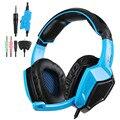 Sa920 3 en 1 gaming headset sades 7.1 surround sound 3.5mm olug cable efecto juego de auriculares con micrófono para pc xbox ps4 360