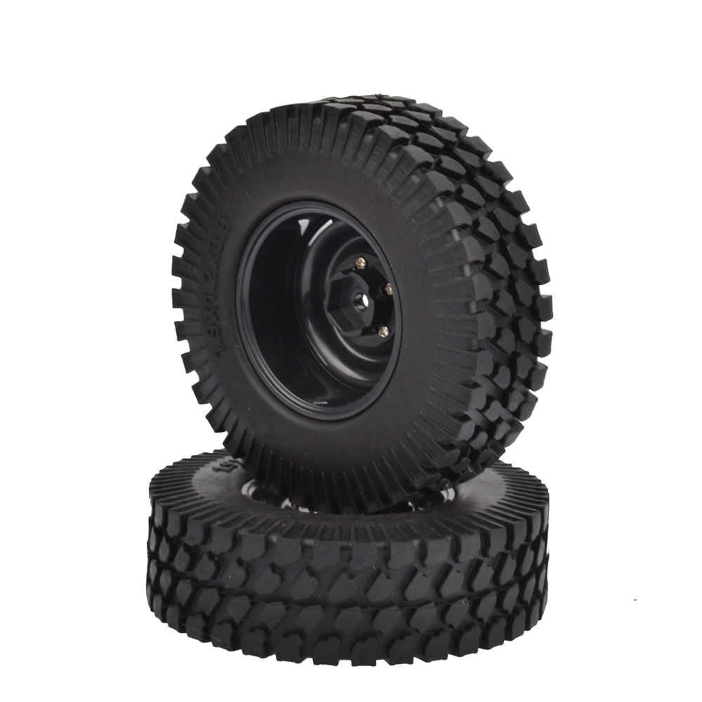 "4PCS 98MM 1.9 inch Rubberbanden & Plastic Velgen 1:10 RC Rock Crawler Axiale SCX10 CC01 D90 d110 1.9 ""Wielen"