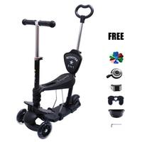 4 in 1 baby dreirad  Tretroller Mit Großen Leuchten Räder Und Fußbremse Patinete Infantil SC01 Elektroautos für Kinder Spielzeug und Hobbys -