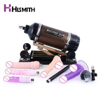 Hismith Gold Sex Machine for women with 8 different attachments Pumping & Thrusting Adjustable Love machine gun sex toys