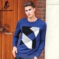 Pioneer Camp бренд-одежда свитер мужчин Весна весна высокое качество мужской свитера синий мода повседневная синий свитер мужчин 677155