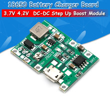 1 PCS Lithium Li-Ion 18650 3.7 V 4.2 V Batterij Oplader Board DC-DC Step Up Boost Module(China)
