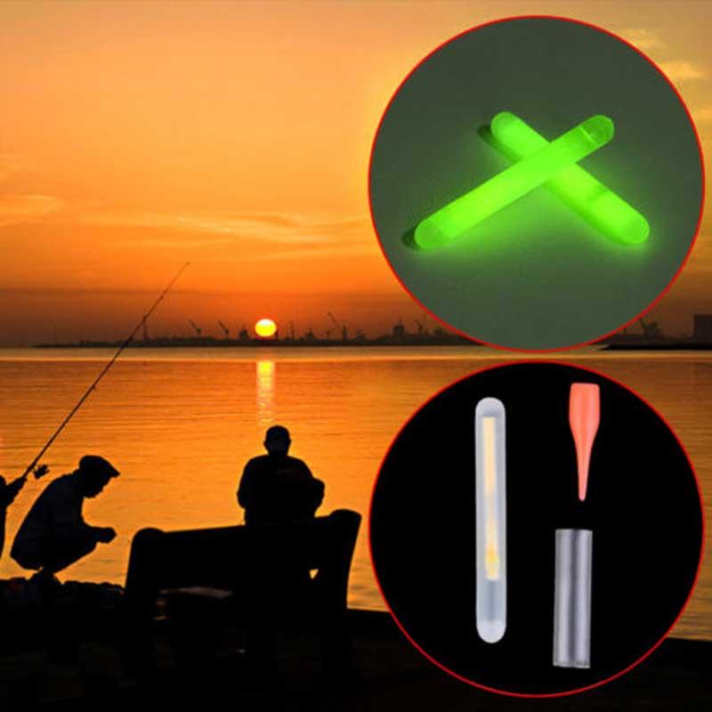 15pcs Mini 4.5x36mm Glow Fishing Fish Fluorescent Lightstick Light Night Float Rod Lights Dark Sticks DX88