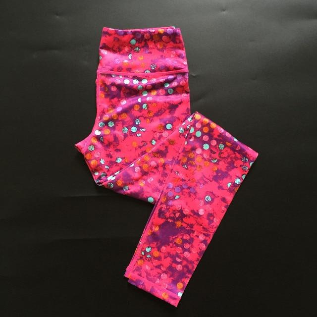 Women Quick Dry Elastic Dotted Yoga Pants / Leggings / Tights