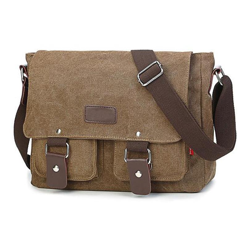 High Quality Men Canvas Bag Vintage Travel Bolsa Masculina Men's Crossbody Bag Men Messenger Bags 2018