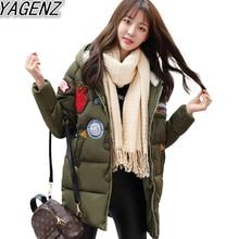 2017 Winter Women Plus Size Cotton Jacket Long Thick Parkas Female Hooded Cotton Padded Fashion Warm Coat Outerwear Student Coat