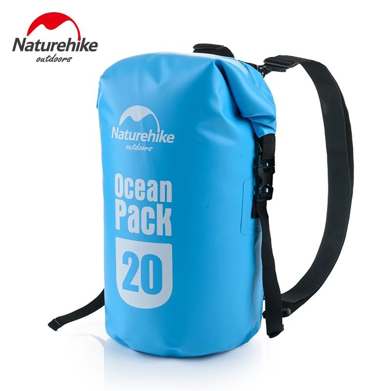 Naturehike Waterproof Dry Sack Ultralight Ocean Packs Rafting Swimming Storage Bags Outdoor Camping Fishing 20L 30L