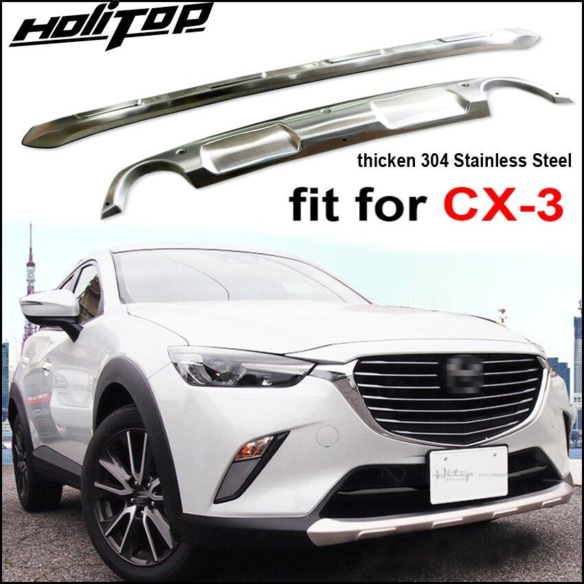 Date pare-chocs garde/plaque de protection/couvercle de coffre pour Mazda CX-3 2016 2017 2018,2 pcs/ensemble, épaissir en acier inoxydable, de grande usine.